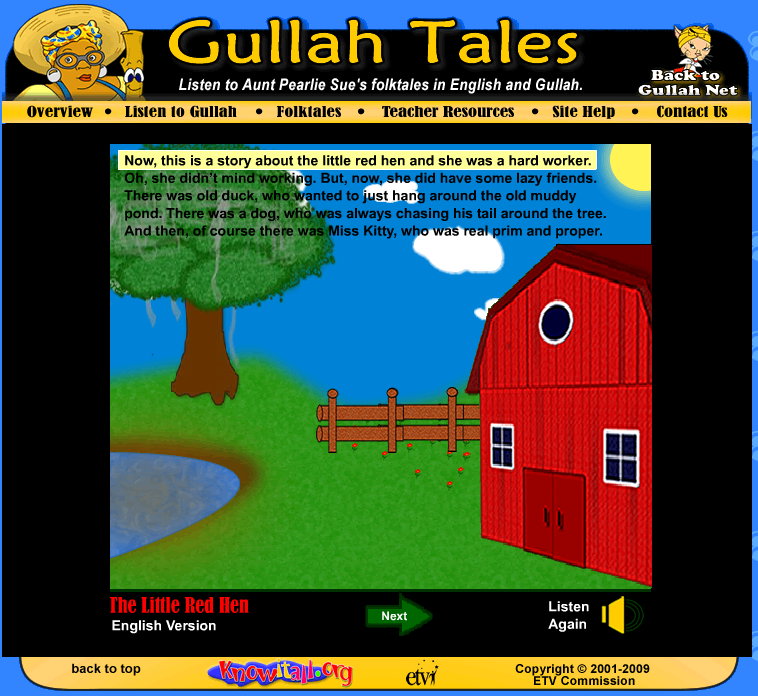 little red hen in gullah
