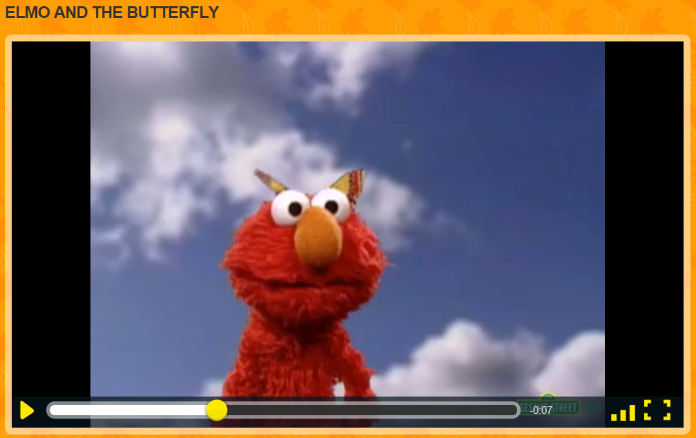 elmo and the butterfly